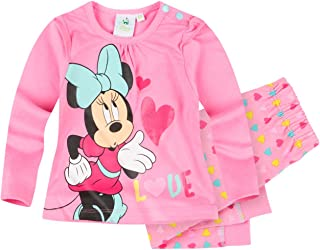 62-92 Glitzerdruck Gr Zweiteiler Disney Minnie Set rosa-pink