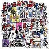 LVLUO Cartoon Anime Gospel Sticker Genesis Japanese Comic Decal Waterproof DIY Car Suitcase Doodle Guitar Sticker Children's Toys 50Pcs