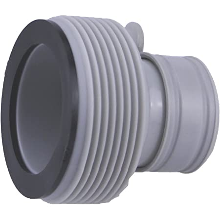 Lot de 2 adaptateurs B pour piscine Intex - Raccorde les piscines jusqu'à 457 cm avec le tuyau à vis Intex pour les grands systèmes de filtration