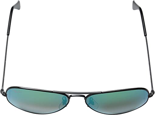 Black Frame/Mirror Gradient Green Lens
