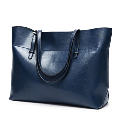 8856c8718f Classic Retro Tote Bag - Leather Fashion Shoulder Bag Tote Satchel with  Large Capacity for Girls