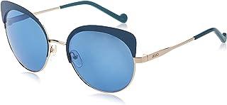 نظارات شمسية من LIU JO للنساء, بيضاوي, LJ Light Metal - ذهبي فاتح