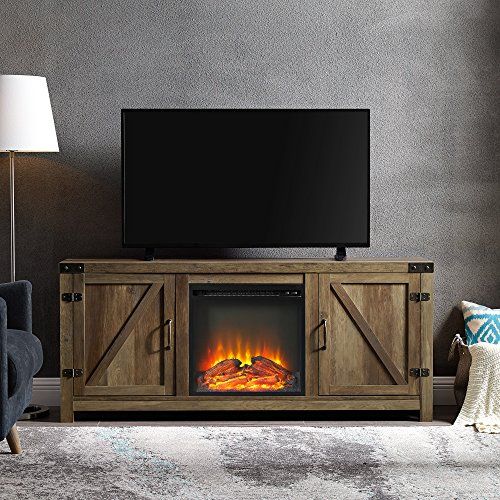 Farmhouse Barn Wood Fireplace Stand
