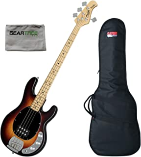 $299 » Sterling RAY4-VSBS-M1 RAY4 Vintage Sunburst 4-String Bass Guitar w/Gig Bag and