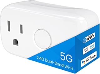 BroadLink 5G Dual Band Wi-Fi Smart Plug Mini, Smart Home Timer Outlet Socket, Works with Alexa, Google Home, IFTTT. No Hub...