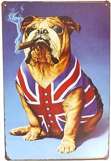 12x8 Inches Pub,bar,home Wall Decor Souvenir Hanging Metal Tin Sign Plate Plaque (CIGAR DOG)