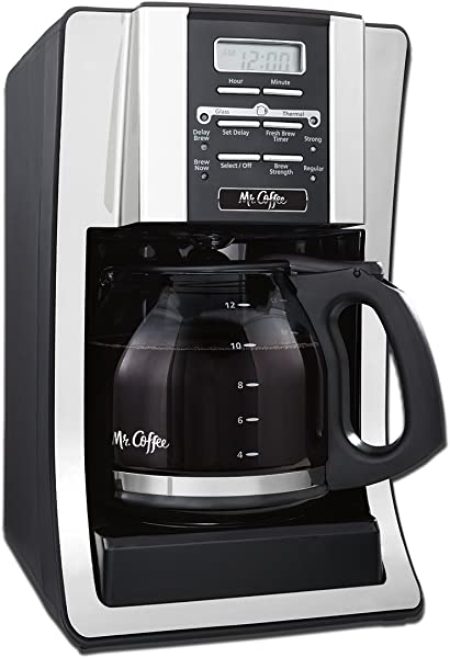 12 Cup Programmable Coffee Maker Bundle With 1 Month Water Filtration