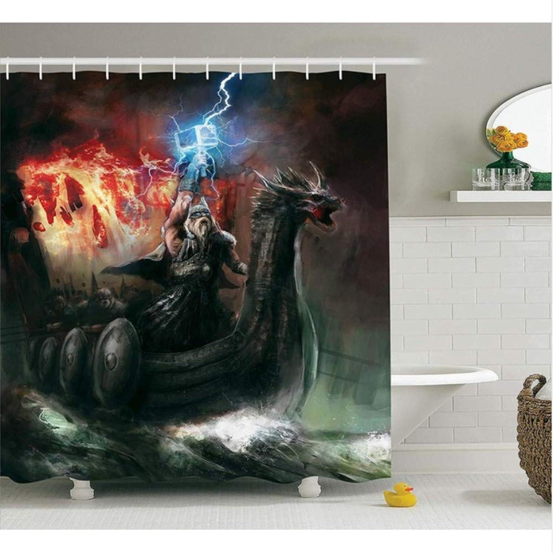 diseños exclusivos WIXIJAWR Cortina De Bao De Lake House Imaginary Wrath of of of Religious Figure Vikings Royal Boat con Dragon Head Storm Bao Decoración, 180X180Cm  forma única