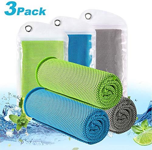 LEBEXY Kühlendes Handtuch   Kühlhandtuch   Sporthandtuch Ultraleicht Kühltuch   Schnelltrocknend Reisehandtuch Cooling Towel   Fitness Handtuch für Laufen, Reise & Yoga