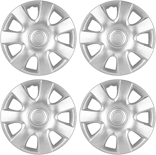 wholesale 15 inch Hubcaps Best for 2006 Toyota XA - (Set of 4) Wheel Covers 15in Hub Caps Silver Rim high quality Cover - Car Accessories for 15 inch Wheels - online Snap On Hubcap, Auto Tire Replacement Exterior Cap sale