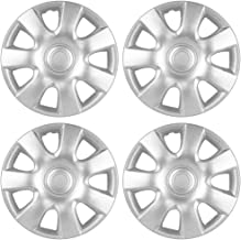 Best OxGord Hubcaps 15 inch Wheel Covers - (Set of 4) Hub Caps for 15in Wheels Rim Cover - Car Accessories Silver Hubcap Best for 15inch Standard Steel Rims - Snap On Auto Tire Replacement Exterior Cap Reviews