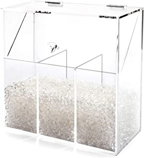 Newslly Acrylic Clear Covered Makeup Brush Holder with Dustproof Lid, Pearls Beads, Large Capacity for Cosmetic Brush Storage (Clear).