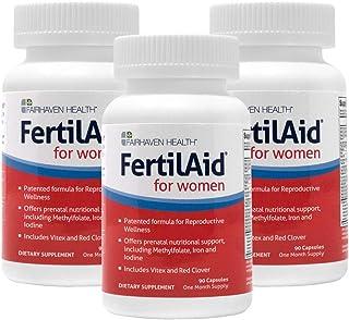 FertilAid for Women: Female Fertility Supplement - 3 Month Supply