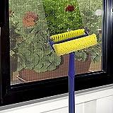 spazzola doppio uso per pulire vetri e zanzariere con attacco per asta universale'made in italy'
