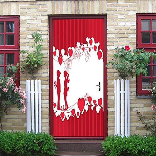 3D Türaufkleber Für Innentüren,Türsticker,Selbstklebend Türposter,Fototapete,3D Tür Wandtattoo 77 * 200Cm Scherenschnitt Paar