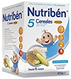 Nutribén Papilla 5 Cereales Fibra - 600 gr