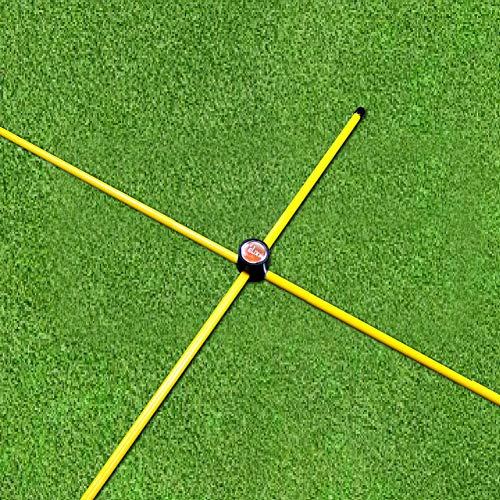 Die Elixir Golf Alignment Sticks (2er Pack) mit (2) auf Stecker für Swing Schulung und Praxis, passt in Golf Tasche