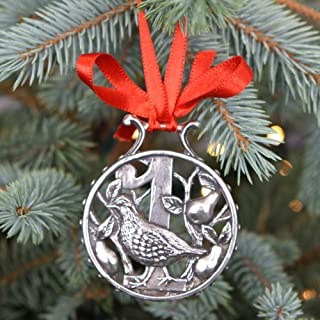 English Pewter Company '12 Days of Christmas' Luxury Pewter Christmas Tree Decoration Pendant Baubles Ornament [CHR011] (1st Day)