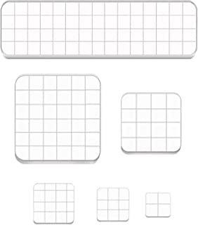 6 Pieces Acrylic Stamping Blocks Set,Clear Staming Tools with Grid Lines,Acrylic Stamp Block for DIY Scrapbooking Crafts,C...