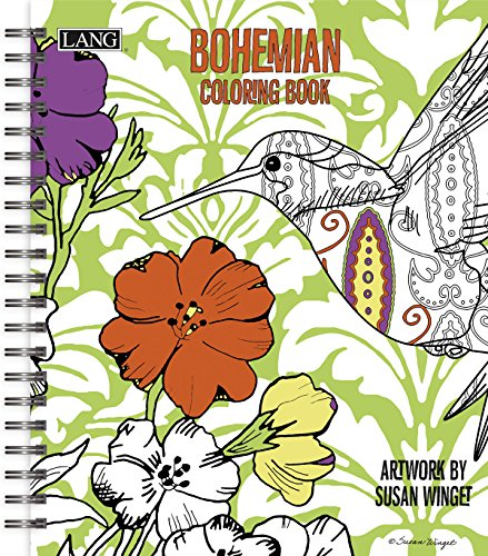 Lang Bohemian Coloring Book by Susan Winget (1020101)