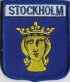 Stockholm Schweden Flagge bestickt Patch Badge