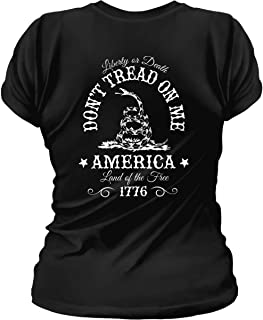 Don't Tread on Me. Liberty or Death. Womens T-Shirt
