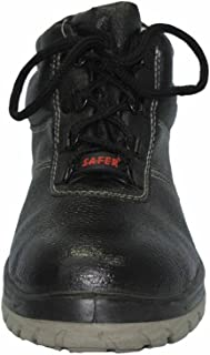Aktion Safety Genuine Leather Shoes SA-1204 - Size 11, Black