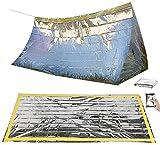 Semptec Urban Survival Technology Notzelt: Survival-Set mit Notfall-Zelt und Folien-Schlafsack...