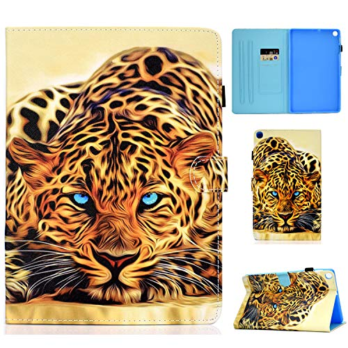 AsWant Cover Galaxy Tab S6 Lite 10.4 Pollici Custodia in Pelle PU Portafoglio Stand Flip Case Porta Penna Custodie Tablet per Samsung Galaxy Tab S6 Lite 10.4' SM-P610 SM-P615 2020 Leopardo