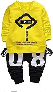 2017 Trendy Toddler Baby Boy Hip-hop Outfits Letter Print Sweatshirt Top+Pants Clothes Set