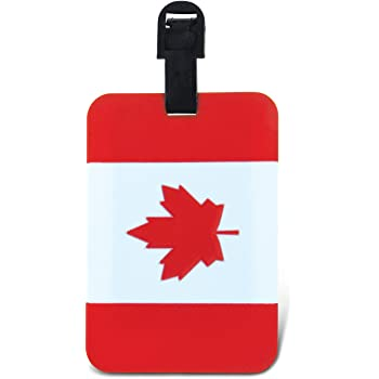 Nov @ Go Luggage Label//Suitcase Label Flag Canadian//Canada
