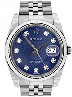 Datejust 36mm Blue Diamonds Dial Stainless Steel Watch 116234