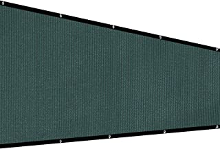 XiaZ Patio Privacy Screen Fence Tarp, Plant Greenhouse Netting Mesh Cloth Dark Green, Deck Balcony Railing Shade Fabric, 130 GSM, 5'7