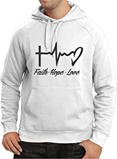 Unisex Hoodie Faith - Hope - Love - 1 Corinthians 13:13, Christian Quotes and Proverbs, Religious Sayings
