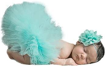 AKAAYUKO Bebé Recién Nacido Falda De Tutú Bowknot And Headband Fotografía Prop