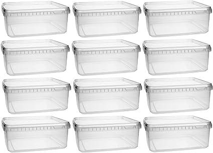 BPA-frei mikken Kunststoffdose 12x 1,15 Liter Plastikdose mit Deckel lebens...