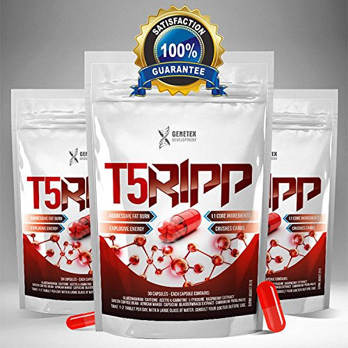 T5Ripp Fat Burners CAPSULES Chromium Carb Blockers, Extreme Weight Loss...