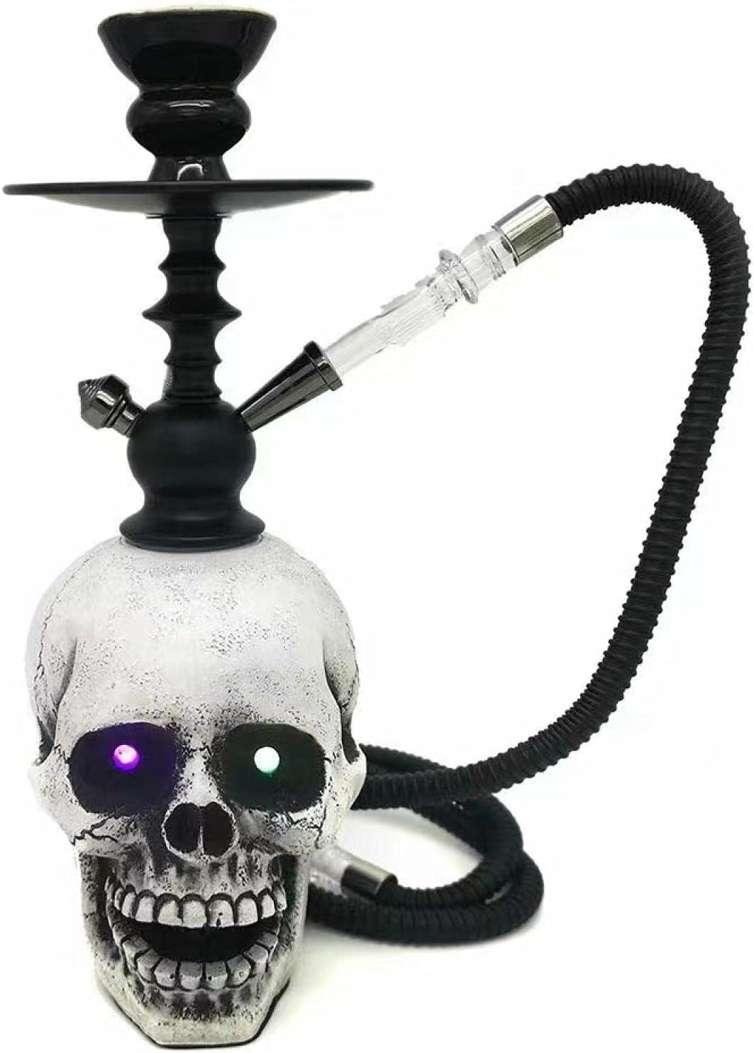 XXIXXV Cachimba árabe shisha cráneo llevó la luz de la barra de recarga Ktv cachimba grande Chicha conjunto cachimbas para fumar consejos tubo tabaco tubo vapes fiesta