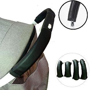 multifuncional 2 fundas protectoras para manillar de cochecito de beb/é color negro de neopreno con mango el/ástico universal para carrito de beb/é a prueba de polvo