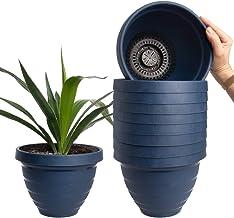 HC Companies (10 Pack) 7.5 Inch Self Watering Planter Indoor Outdoor Planters Plastic Urn Flower Pot