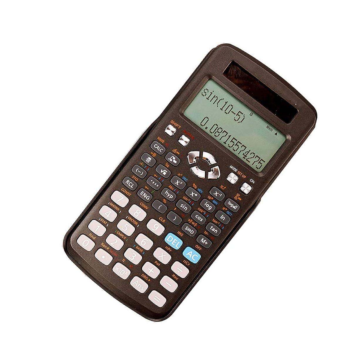 報復する強います先事務所 12ビットワイドスクリーンHDディスプレイ科学計算機学生は多機能ソーラーデュアルパワーデュアル保険電卓を使用 算数 (PATTERN : B-2)