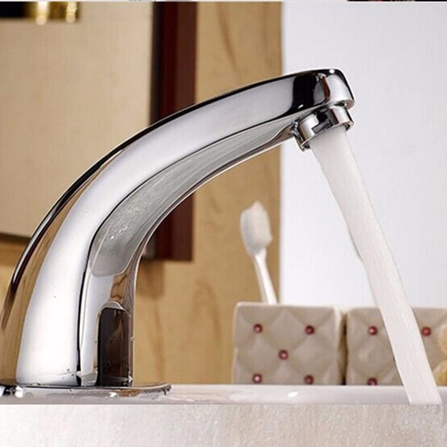 Lalaky Taps Faucet Kitchen Mixer Sink Waterfall Bathroom Mixer Basin Mixer Tap for Kitchen Bathroom and Washroom All Copper Induction Single Cold
