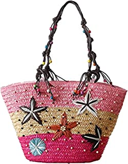 Bohemia Handmade Beach Bag For Women Fashion Woven HandBag Embroidery Beading Knitted Tote Bag