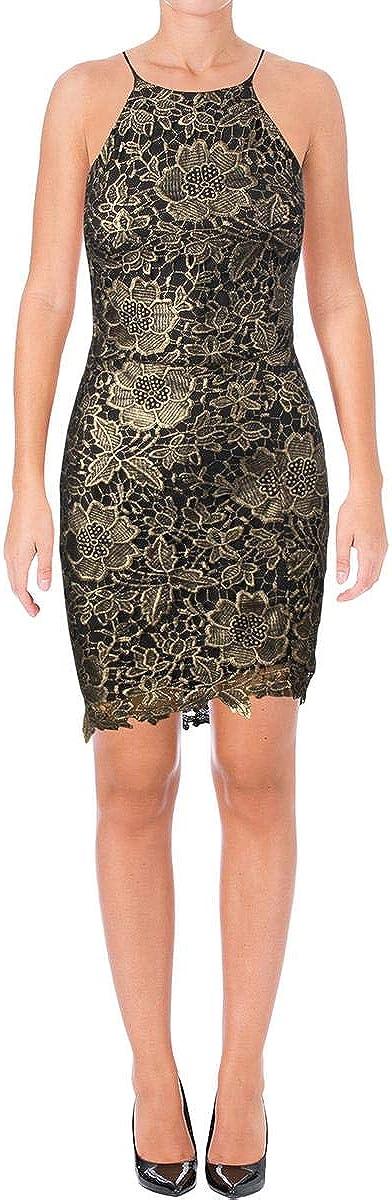 Adelyn Rae Womens Metallic Lace Clubwear Dress