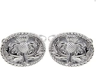 Escocia Escocés Gemelos de plata esterlina sólida hecho a mano