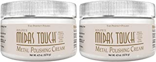 Midas Touch Metal Polishing Cream – 4.5oz, Cleaner & Polishing Rouge for Sterling Silver, Gold, Brass & Other Metals, 2pack, by Rolite