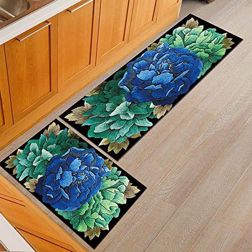 HLXX Alfombrillas de Puerta Simples Personalizadas a Prueba de Polvo alfombras de Mesa de Comedor de Cocina Antideslizantes alfombras de Puerta Lavables A22 40x120cm
