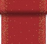 Duni Dunicel® - Runner da tavolo, 3 in 1, ogni 40 cm, motivo decorativo natalizio, colore: rosso