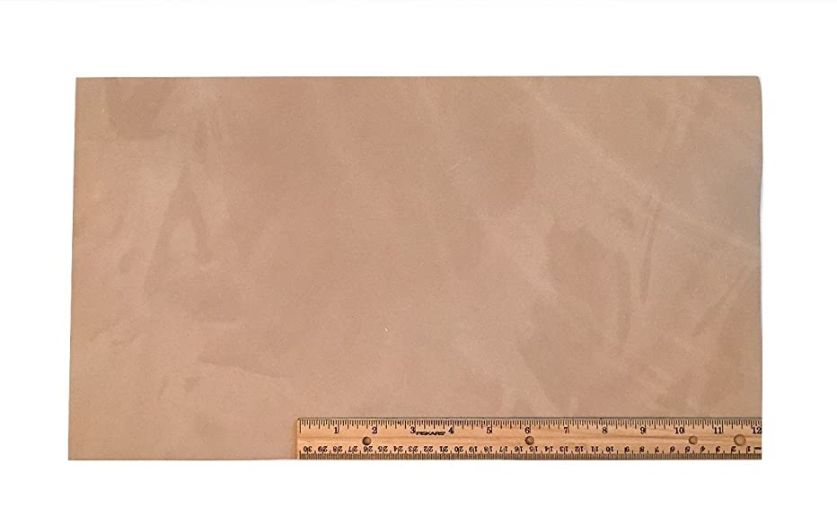 Scrap Leather Piece Medium Weight Boot Leather; Light Brown Desert Sand Cowhide 18