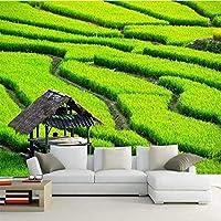 カスタム壁画3D壁紙緑の風景シンプルな美的Hdテレビ壁リビングルーム寝室壁画写真壁紙装飾アートフレスコ, 250cm×175cm